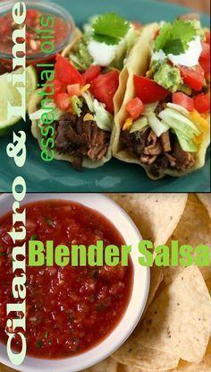 doTERRA Blender Salsa! ...with Cilantro & Lime Essential Oils. http://mydoterra.com/kimberlygoins