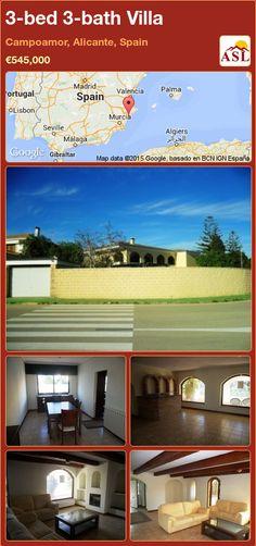 3-bed 3-bath Villa in Campoamor, Alicante, Spain ►€545,000 #PropertyForSaleInSpain