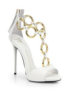 Giuseppe Zanotti - Leather Chain-Strap Sandals - Saks.com