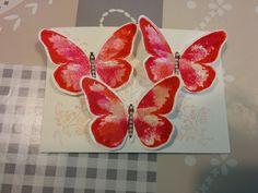 Watercolor Wings, babywipe technique, babydoekjes techniek - Het Knutsellab - Stampin Up #stampinup #crafts #knutselen #stempelen