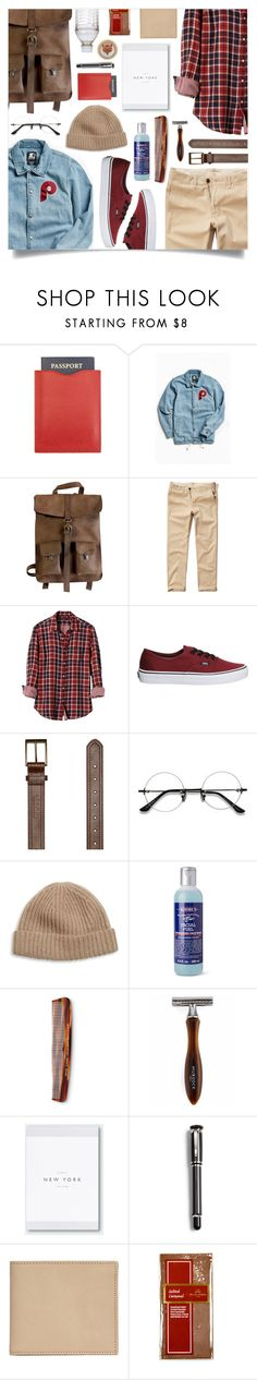 """""""Kjore Project's leather backpack"""" by laste-co ❤ liked on Polyvore featuring Starter, Kjøre Project, Hollister Co., Banana Republic, Vans, Afends, Portolano, Kiehl's, Baxter of California and Dunhill"""