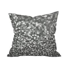 The Glitterfall Pillow is just what the doctor ordered to perk up your sofa or bed. Bringing a hint of whimsical glamour, this pillow features a double-sided print in silvery gray, resembling a swath o...  Find the Glitterfall Pillow, as seen in the The Great American Novel Collection at http://dotandbo.com/collections/the-great-american-novel?utm_source=pinterest&utm_medium=organic&db_sku=109757