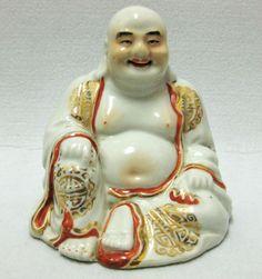 Antique China Chinese Porcelain smiling Buddha Marked 佛