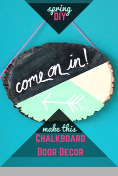 Rustic Chalkboard Door Decor | HGTV Weekday Crafternoon >> http://blog.hgtv.com/design/2015/03/19/hgtv-crafternoon-rustic-chalkboard-door-decor/?soc=pinterest