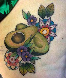 Wir machen unsere Beziehung zur Avocado jetzt offiziell: mit Food Tattoos