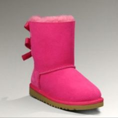 Pink Bailey Bow Uggs for little girls