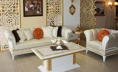 Classic Sofa Sets - Luxury Seat Models - Turkish Sofa Sets Furniture Showroom, Sofa Furniture, Furniture Sets, Ottoman Sofa, Couch, Turkish Furniture, Country Sofas, Sofa Set Designs, Classic Sofa