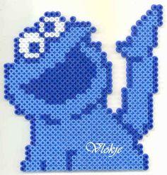 Sesame Street Cookie monster perler bead by vlokje http://mistertrufa.net/librecreacion/culturarte/?p=12