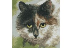 Cat's eyes - borduurpakket - RTO #kat #katten #poes