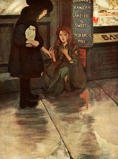Sara buying a bun - Ethel Franklin Betts, one of my favorite illustrators.