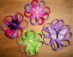 Easy Ribbon Hair Bows baby-crafts