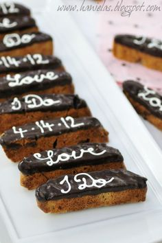 Haniela's: ~Bridal Shower Biscotti~