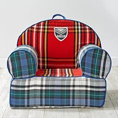 If only we had room in our house for these- the boys would love them! Executive Nod Chair (Northwoods Plaid)   The Land of Nod