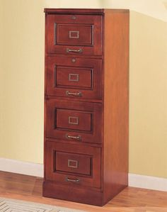 Charmant Wood Filing Cabinet