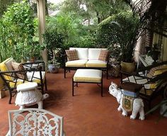 Vtg Meadowcraft Chinese Chippendale Hollywood Regency Faux Bamboo Patio Set  (01/11/2013