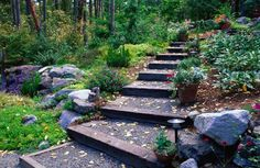 how to make a garden walkway with steps -