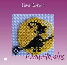 Witch Halloween hama perler by aux4mains.