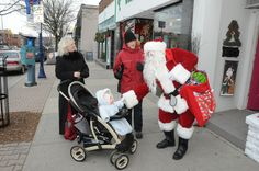 Mississauga, Ontario photos - Christmas events in Port Credit Christmas Events, Christmas Photos, Ontario, Baby Strollers, Santa, Children, Heart, Places, Xmas Pics