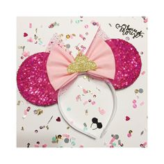 Sequin Sleeping Beauty Inspired Mouse Ears by ShopHouseOfMouse