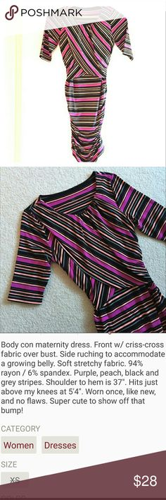 Striped Maternity Dress Reposh, very good condition. I only used it once. Liz Lange Dresses