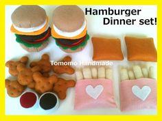 ETSY  Pretend felt play food      Hamburger  by TomomoHandmade, $45.00