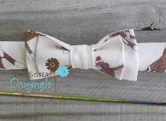 Boy Bow Tie - Cream Sock Monkeys. $14.00, via Etsy.