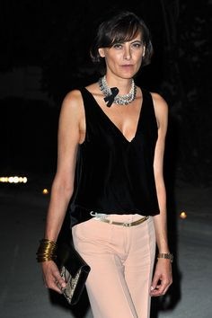 Ines de la Fressange at Hogan by Karl Lagerfeld: Cocktail - Paris Fashion Week Spring / Summer 2012