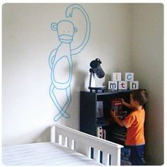 Jane Reiseger cheekee monkee - wall stickers kids room