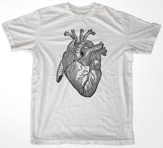 vintage heart illustration tee