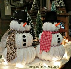 Christmas Dryer vent hose ~~ Snowy Snowman Tutorial