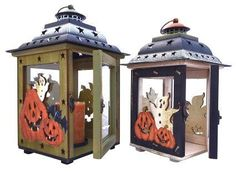 Halloween Candle Holder Lanterns with Spooky Ghosts, Smiling Pumpkins, & Spider Webs. Hand Painted on Glass, Wood, & Tin. Handmade Vintage Look Halloween Decor. Candle Holder Decor, Lantern Candle Holders, Candle Lanterns, Candles, Halloween Gifts, Fall Halloween, Halloween Decorations, Halloween Ideas, Halloween Parties