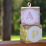 Modern Kids 'party bags' Boxes (personlised) - by simplewrap on madeit