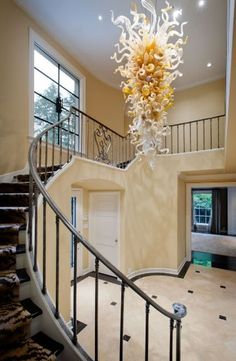 I love this staircase.  Found this Magnolia home photograph from seattlehomesinsider.com.