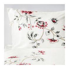 RÖDBINKA Bettwäscheset, 2-teilig IKEA Lyocell in Satinwebart zeichnet sich durch feinen seidigen Glanz und hohe Schmiegsamkeit aus.