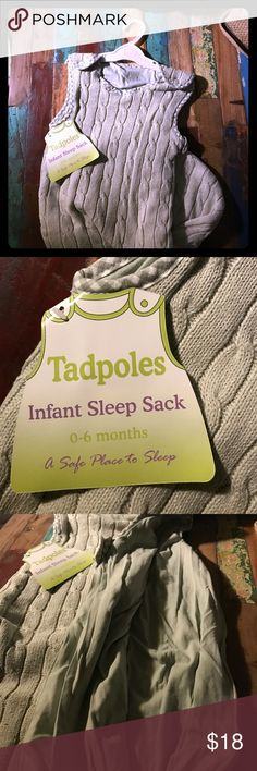 Infant sleeping sac Your little will not get tangled or suffocate in their own blankets  with these safe sleep sacks. My boys boys loved them.  Tags still on, heavy and multilayered of fabric and cotton. tad poles  Pajamas Sleep Sacks