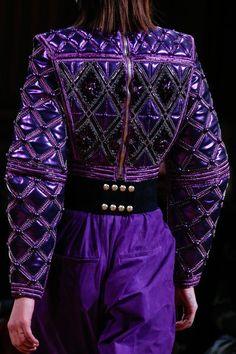 Balmain Fall 2013 Ready-to-Wear Fashion Show Purple Love, All Things Purple, Shades Of Purple, Deep Purple, Purple Stuff, Balmain, Yeezy Fashion, Kendall Jenner Style, Kylie Jenner