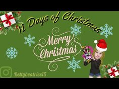 Hello, 12 days of makeup! Christmas Ideas, Christmas Ornaments, Day Makeup, 12 Days, Glow, Merry, Holiday Decor, Youtube, Christmas Jewelry