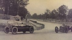 GP France (ACF) 1925 at Monthlery , Alf Romeo P2 of #12 Gastone Brilli Peri . Followed by Delage 2LCV of Louis Wagner / Paul Torchy