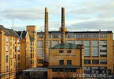 Factory, structure, architecture, design from a brick