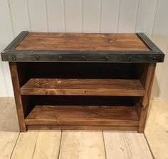 Rustic Bench With Through Mortise And Tenon And Turnbuckle