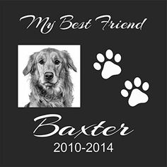 Personalised Pet Stone Memorial Marker Granite Grave Marker Dog Cat Horse Bird Human 12 X 12 Custom Design Personalized Basset Hound -- Read more at the affiliate link Amazon.com on image.