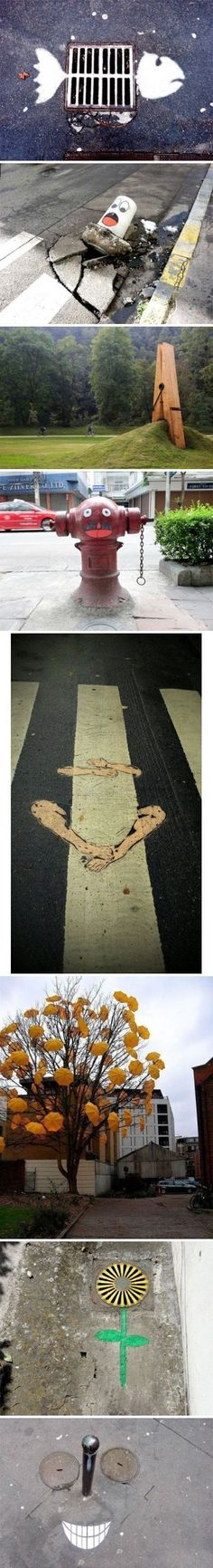 一组有趣的街头艺术
