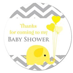 'Thank you for coming to my baby shower' stickers - in diameter, 'baby elephant', for party bags, Blue, Pink or Yellow (Blue stickers)) Office Branding, Thank You For Coming, Party Bags, Baby Elephant, Thankful, Baby Shower, Stickers, Amazon, Pink