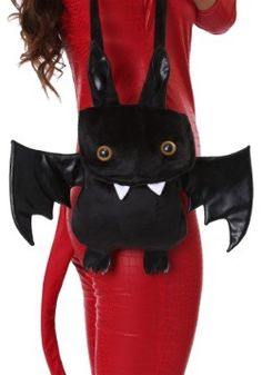 This is a Bat Purse. Inside purse has maroon lining with bat images. Bat wings and ears are faux leather. Adult Costumes, Halloween Costumes, Vampire Costumes, Halloween Ii, Bat Images, Concert Looks, Devil Costume, Cute Bat, Vampire Bat