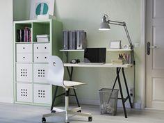 KALLAX kast LINNMON bureau   #IKEA #DagRommel #schragen #werkplek #kantoor