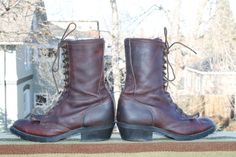 vtg double H womens roper with kiltie GRANNY BOOTS 95 by Taite, $45.00