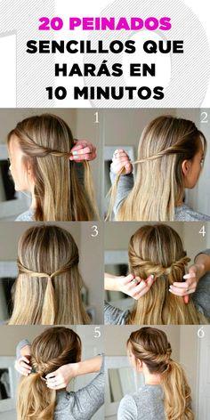16 Sencillos y rápidos peinados que harán que tu cabello luzca genial.  ¡Serás la envidia! 239ff4c117b