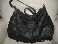 Diy leather purse from old jacket. Käsilaukku vanhasta nahkatakista
