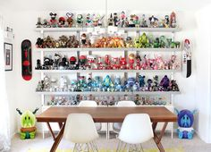 Updated photo of my dining room and part of my toy collection. #rainbow #collection #saraharvey