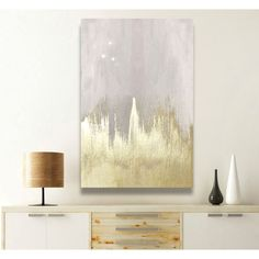 Oliver Gal 'Offwhite Starry Night' Painting Print on Wrapped Canvas